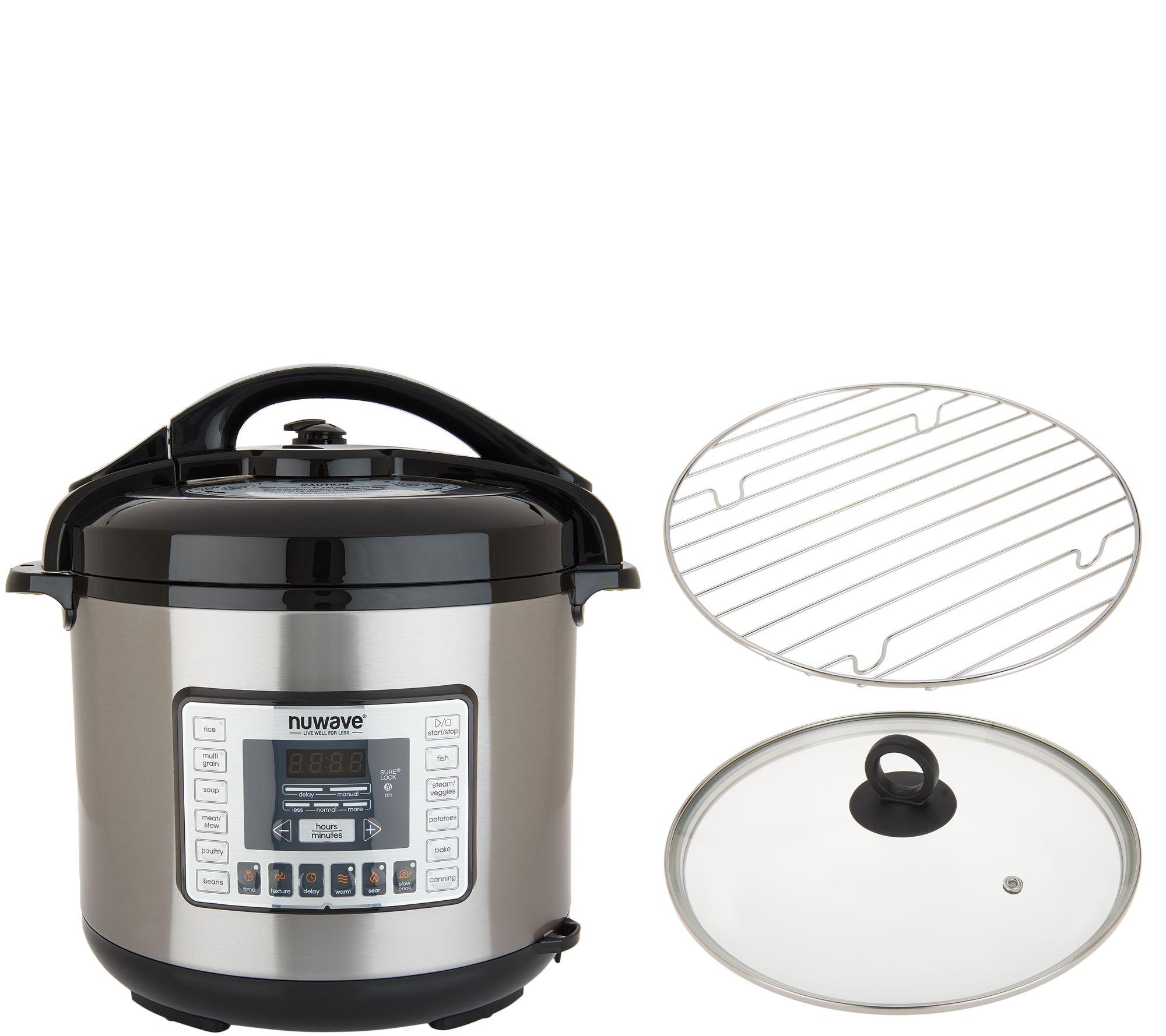 9196e9520a11 NuWave 8-qt Nutri-Pot Pressure Cooker with Pot, Glass Lid, & Rack - Page 1  — QVC.com