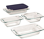 Pyrex Easy Grab 5-Piece Oven-to-Table Glass Handled Bake Set - K305741