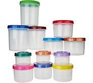 Lock & Lock 12 piece Multi-Color Twist Lid Storage Set - K46142