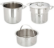 All-Clad Stainless Steel 8-qt Covered Multi-Cooker, Insert & Basket - K47042