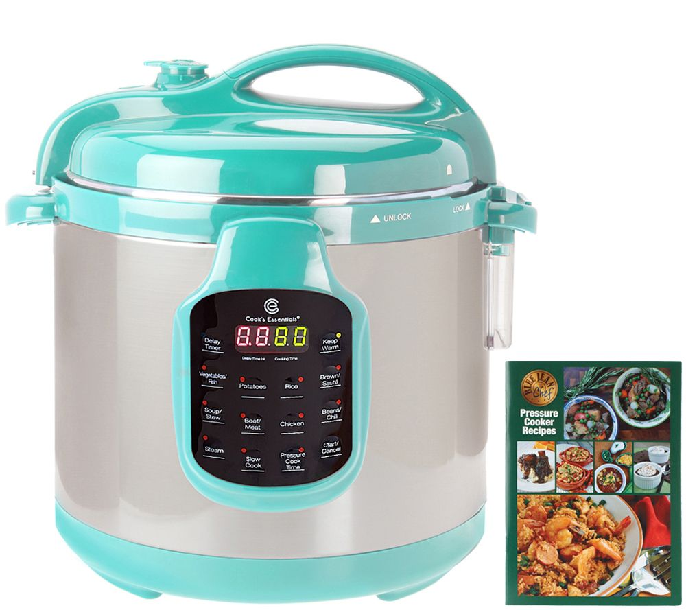 CooksEssentials 6 qt  Round Digital Stainless Steel Pressure Cooker —  QVC com