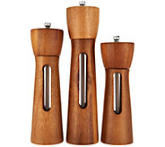 Rachael Ray Set of 3 Acacia Wood Grinders - K45543