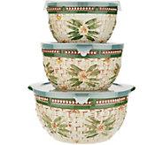 Temp-tations Old World Basketweave Set of 3 Bowls - K47343