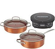 NuWave Induction Cooktop Flex with 4-qt Pan & 3-qt Grill Pan - K47544