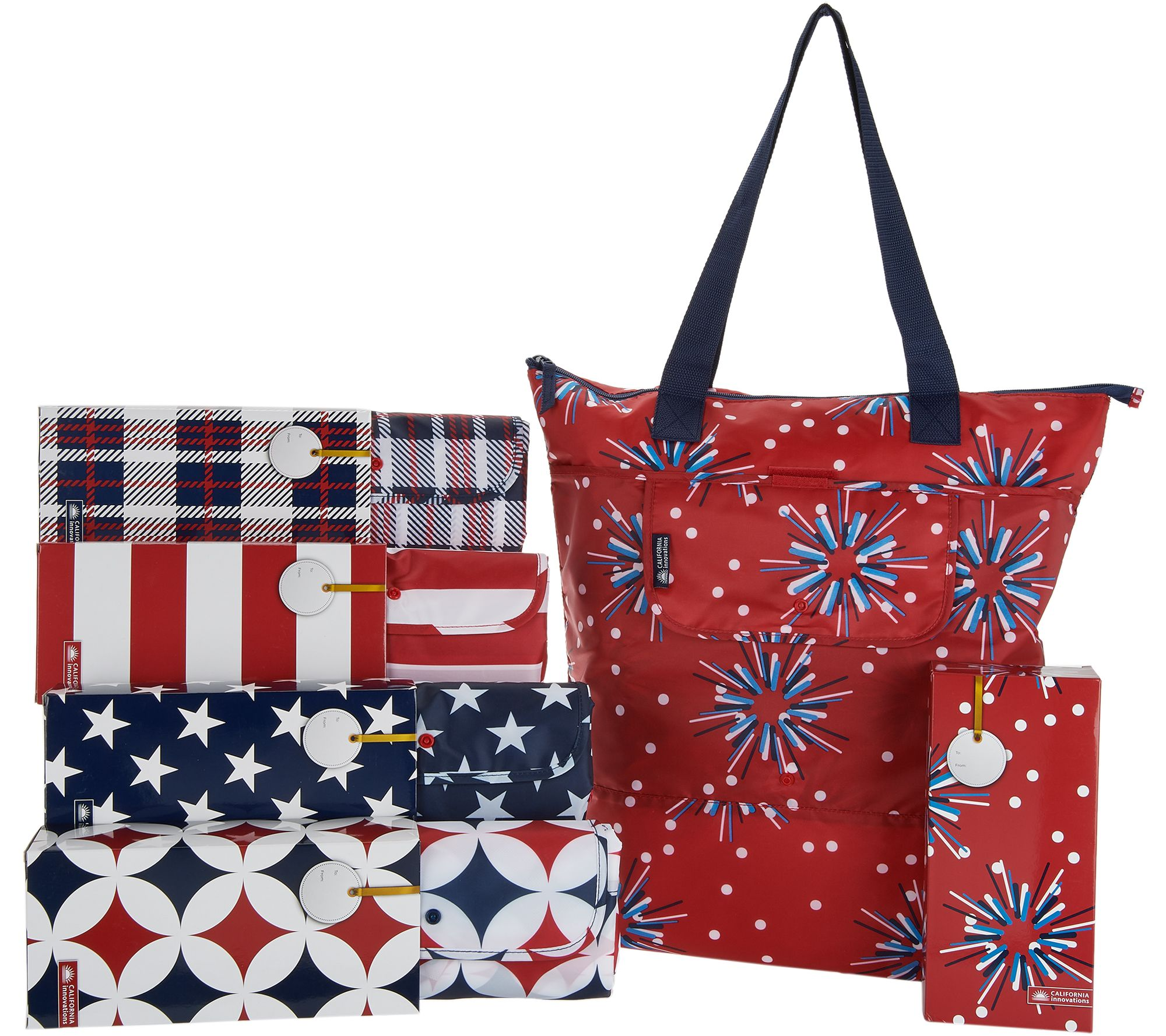 1cc9417c948b California Innovations Set of 5 2-in-1 Insulated Totes with Gift Boxes —  QVC.com