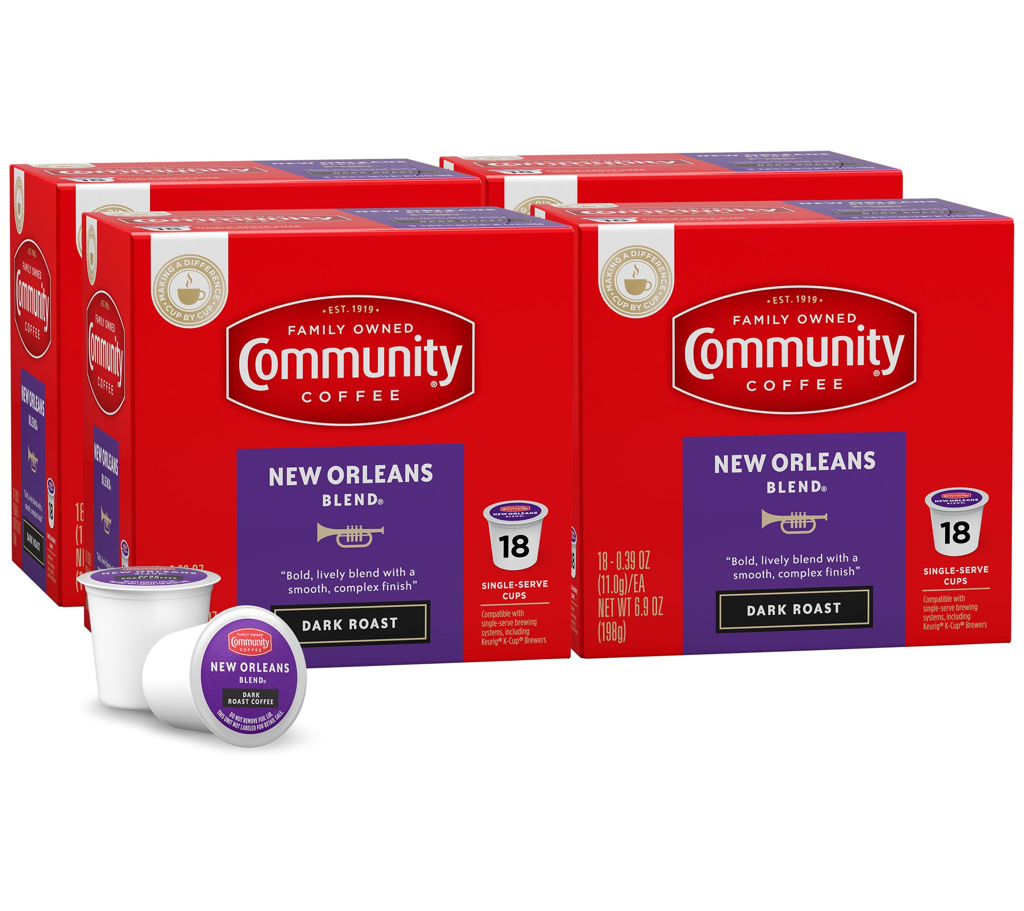 Community Coffee 72 Ct New Orleans Blend Single Serve Cups