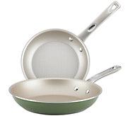 Ayesha Curry Porcelain Enamel Nonstick Skillet Twin Pack - K376445