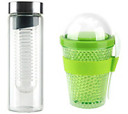 Asobu Chill Yo 2 Go Container & Flavor It GlassBottle - K379645