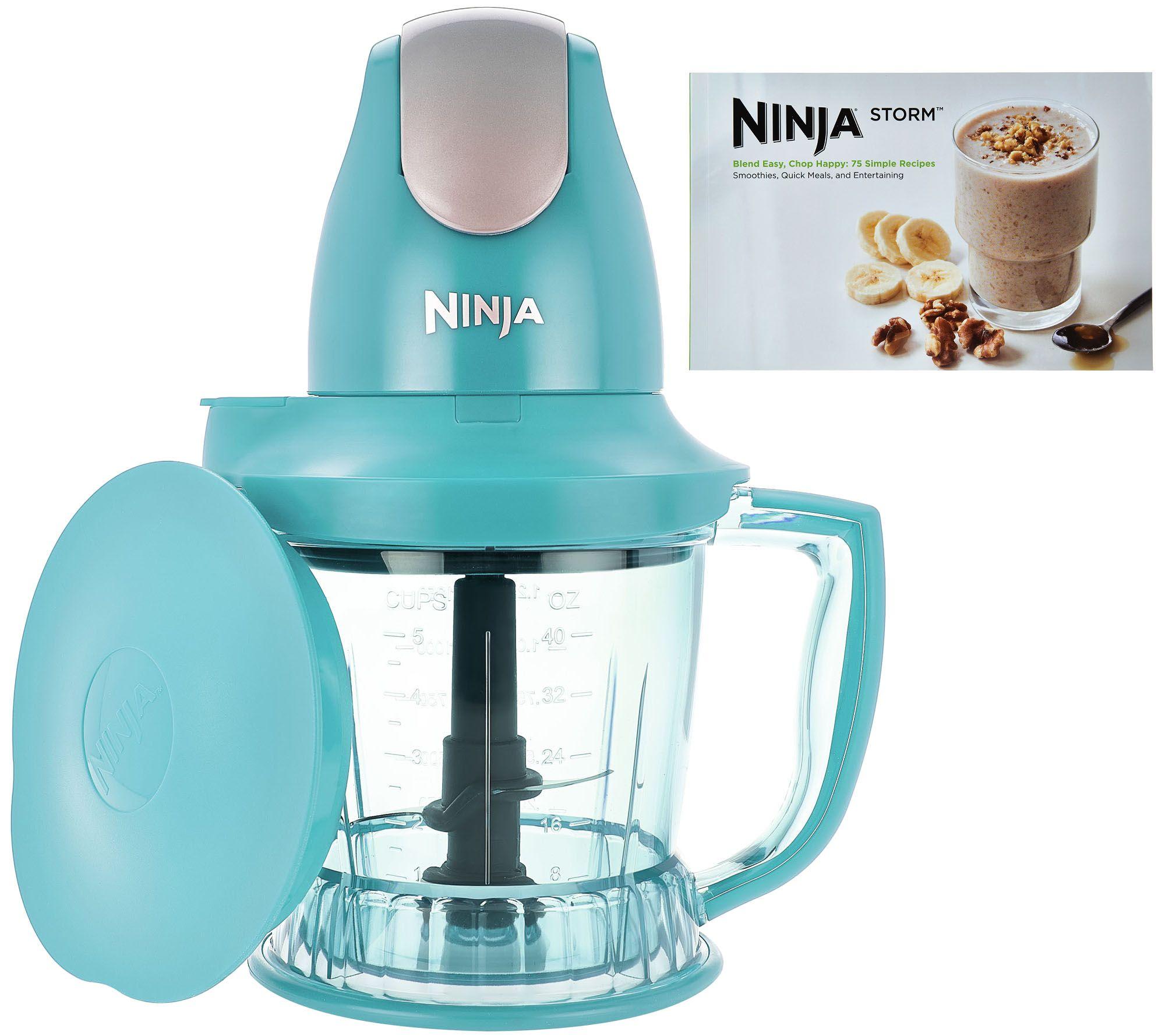 Ninja Storm Designer Series 450W 40 oz. Food & Drink Maker w/Recipes ...