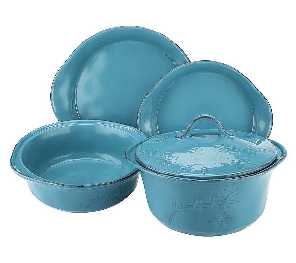 Rachael Ray Cucina 5-Piece Stoneware Baker Set — QVC.com