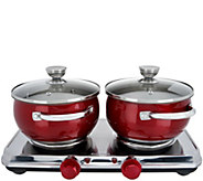 Cooks Essentials Stainless Steel Double Burners & Cookware Set - K46447