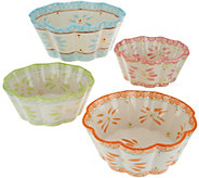 Temp-tations Old World 4-Piece Nesting Flower Bowl Set - K46948