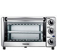 Toshiba MG12GQN-CHSS 4-Slice Toaster Oven - Stainless Steel - K378149