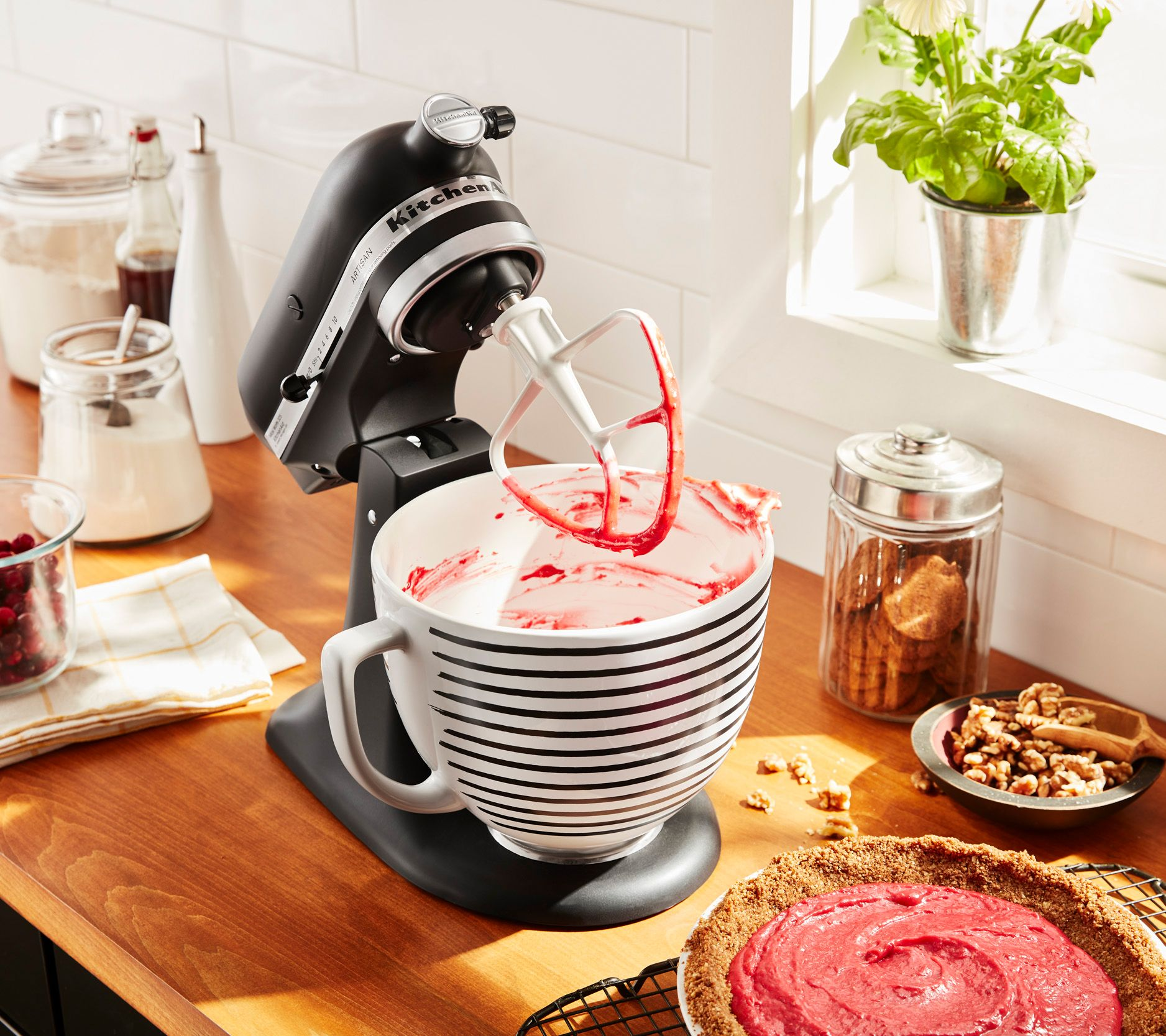 Kitchenaid 5 Qt Patterned Ceramic Stand Mixer Bowl Qvc Com