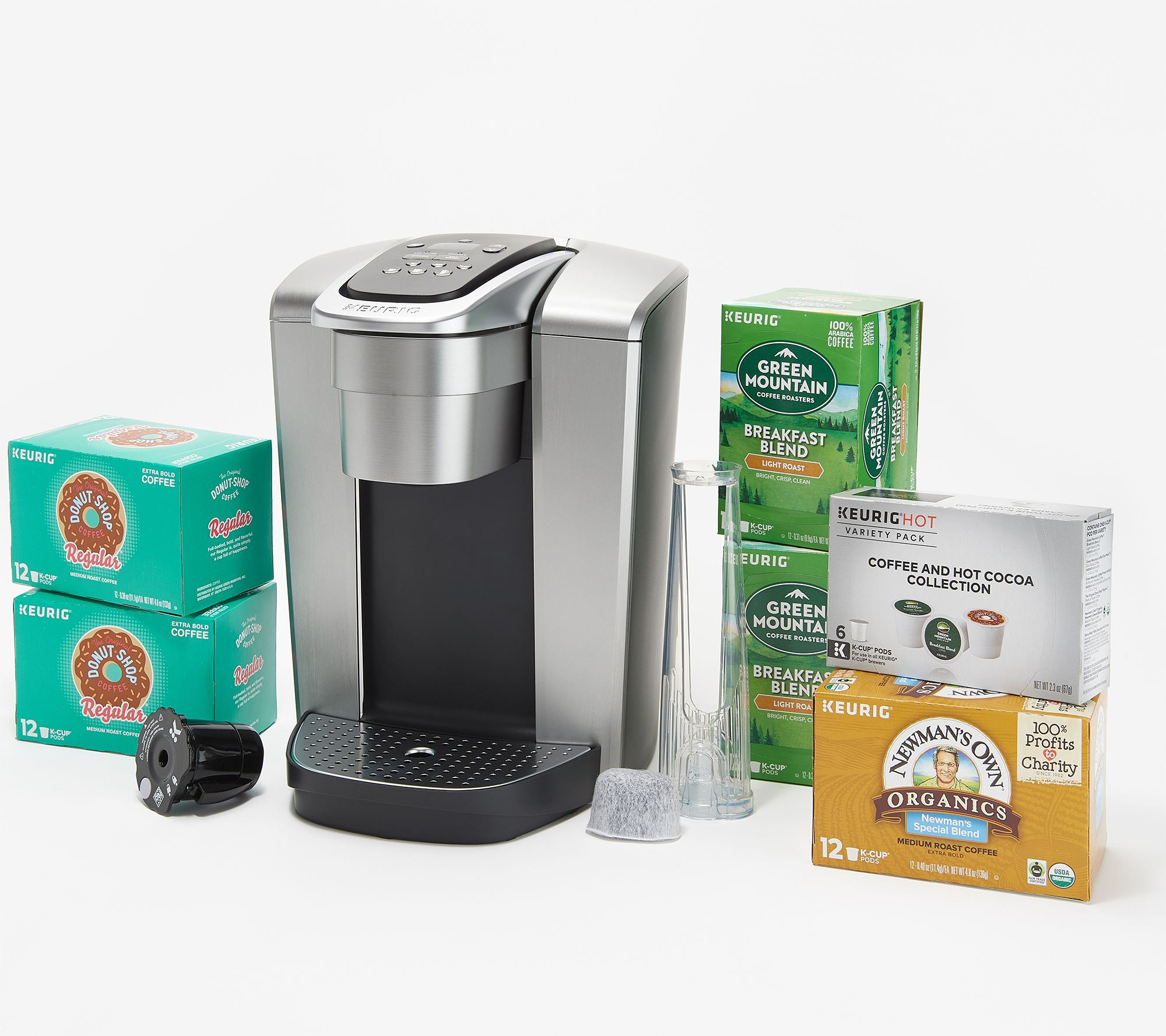 Keurig K-Elite Coffee Maker with My K-Cup, Filter, and 66 K-Cup Pods —  QVC com