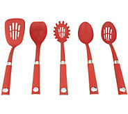 Rachael Ray 5-Piece Nylon Tool Set with Stainless Steel Accents - K37451