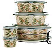 Temp-tations Old World Basketweave 9-Piece Oval Bakeware Set - K46951