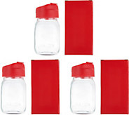 Set of 3 16.9oz Mason Jar Tumblers - K45952