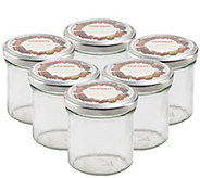 Leifheit Straight 5.6-oz Small Canning Jars - Set of Six - K305453