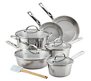 Ayesha Curry 11-Piece Stainless Steel Cookware Set - K376553
