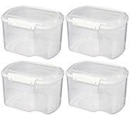 Sistema BakeIT Set of (4) 1.56-liter Storage Container Set - K380453