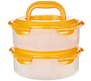 Lock & Lock 2pc Dessert & Appetizer Carrier with Handles - K46154