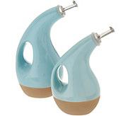 Rachael Ray EVOO & Vinegar Slip Glaze Stoneware Set - K46854