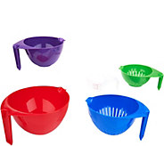Cooks Essentials Set of 5 Mixing Bowls & Measuring Cup - K47054