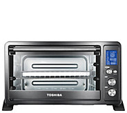 Toshiba AC25CEW-CHBS Digital Toaster Oven - Black/Stainless - K378155