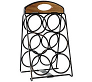 Gourmet Basics by Mikasa Folding 6-Bottle WineRack - K305057