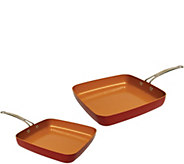 Red Copper 10 and 12 Square Pans - K375657
