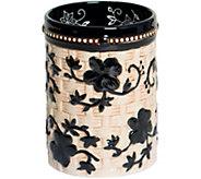 Temp-tations Floral Lace Basketweave Utensil Holder - K376557
