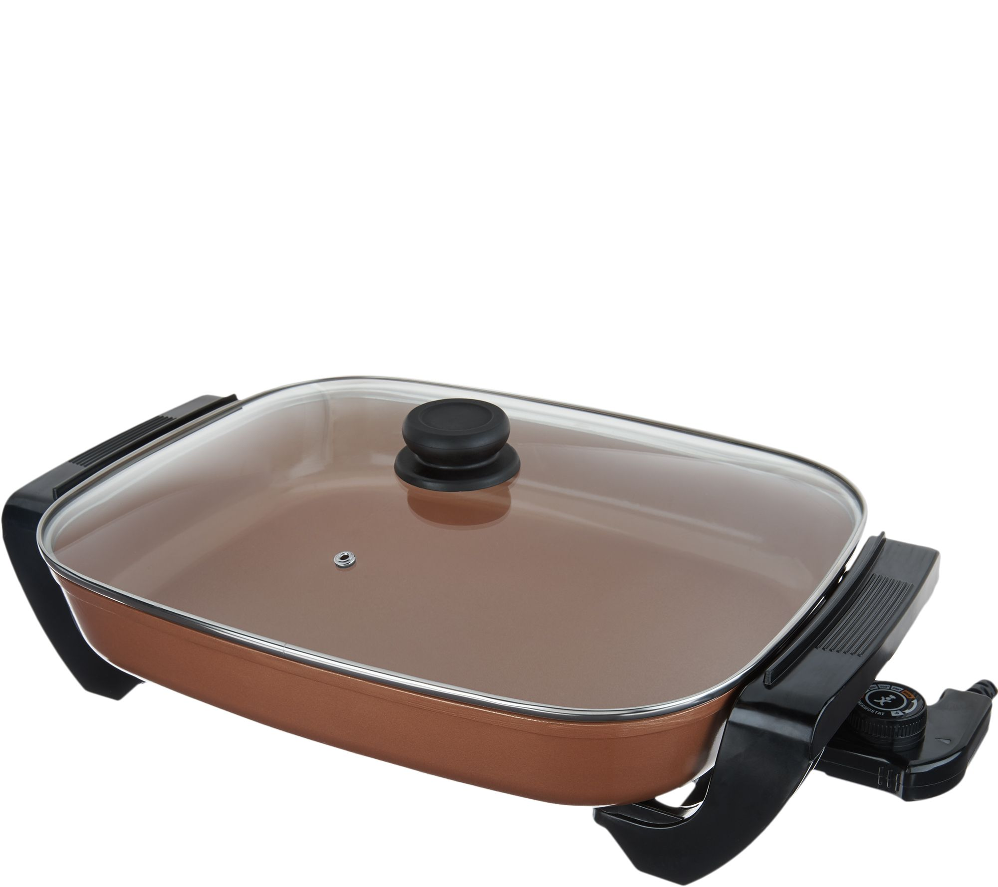 Copper Chef Nonstick Electric Skillet With Lid Page 1 Qvc Com