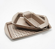 Rachael Ray Nonstick Dual-Layer 5-Piece Crisper Set - K48557
