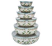 Temp-tations Old World Set of 6 Nesting Bowl Set - K46958