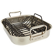 All-Clad Stainless Steel 11 x 14 Roaster with Rack - K47359