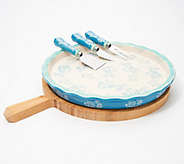 Temp-tations Floral Lace 5-Piece Cheeseboard Set - K47659