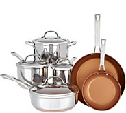 Cooks Essentials Elite SS Clad 10-Piece Cookware Set - K45960