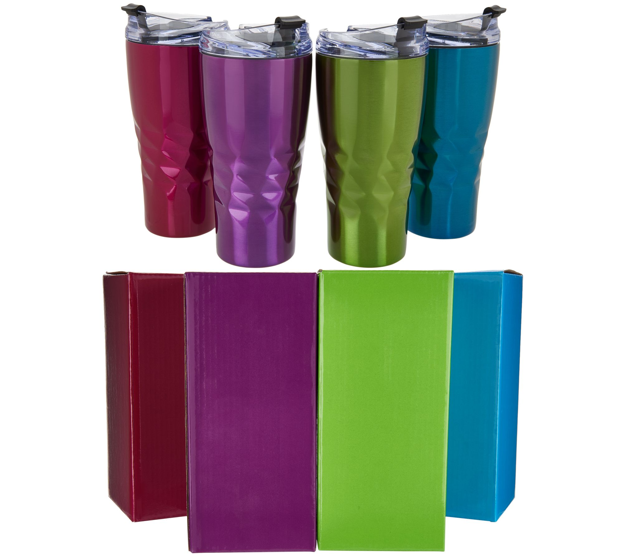 0861f1c5488 Primula Peak Set of 4 20-oz Insulated Tumblers with Gift Boxes - Page 1 —  QVC.com