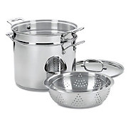 Cuisinart Chefs Classic Stainless 4-Piece Pasta-Steamer Set - K129861