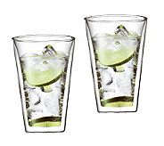 Bodum Canteen Set of 2 Double Wall Glass Cups,13.5 oz - K297662