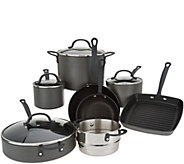 Cooks Essentials Signature 12-Pc Hard-Anodized Cookware Set - K47062