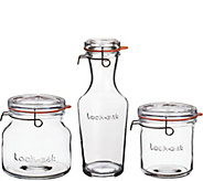 Luigi Bormioli Lock-Eat 3-Piece Glass Storage Set - K376063