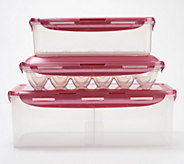 Lock & Lock 3 piece Bread, Bacon, and 12 Egg Storage Set - K46163