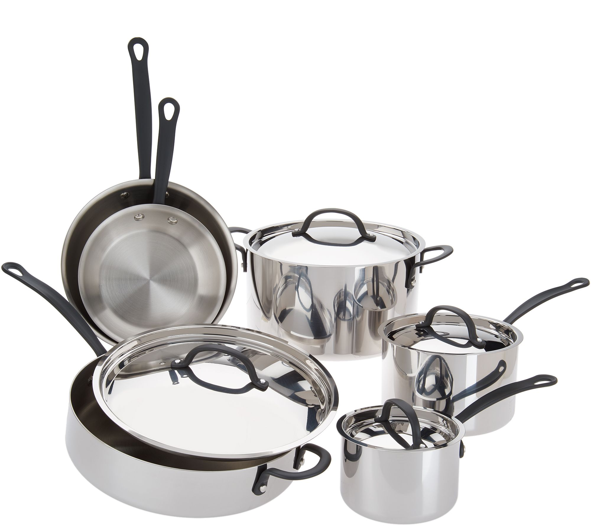 Signature 10 Pc Tri Ply Cookware Set