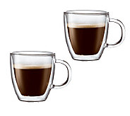 Bodum Bistro Set of 2 Double Wall Espresso Mugs, 5 oz - K297664