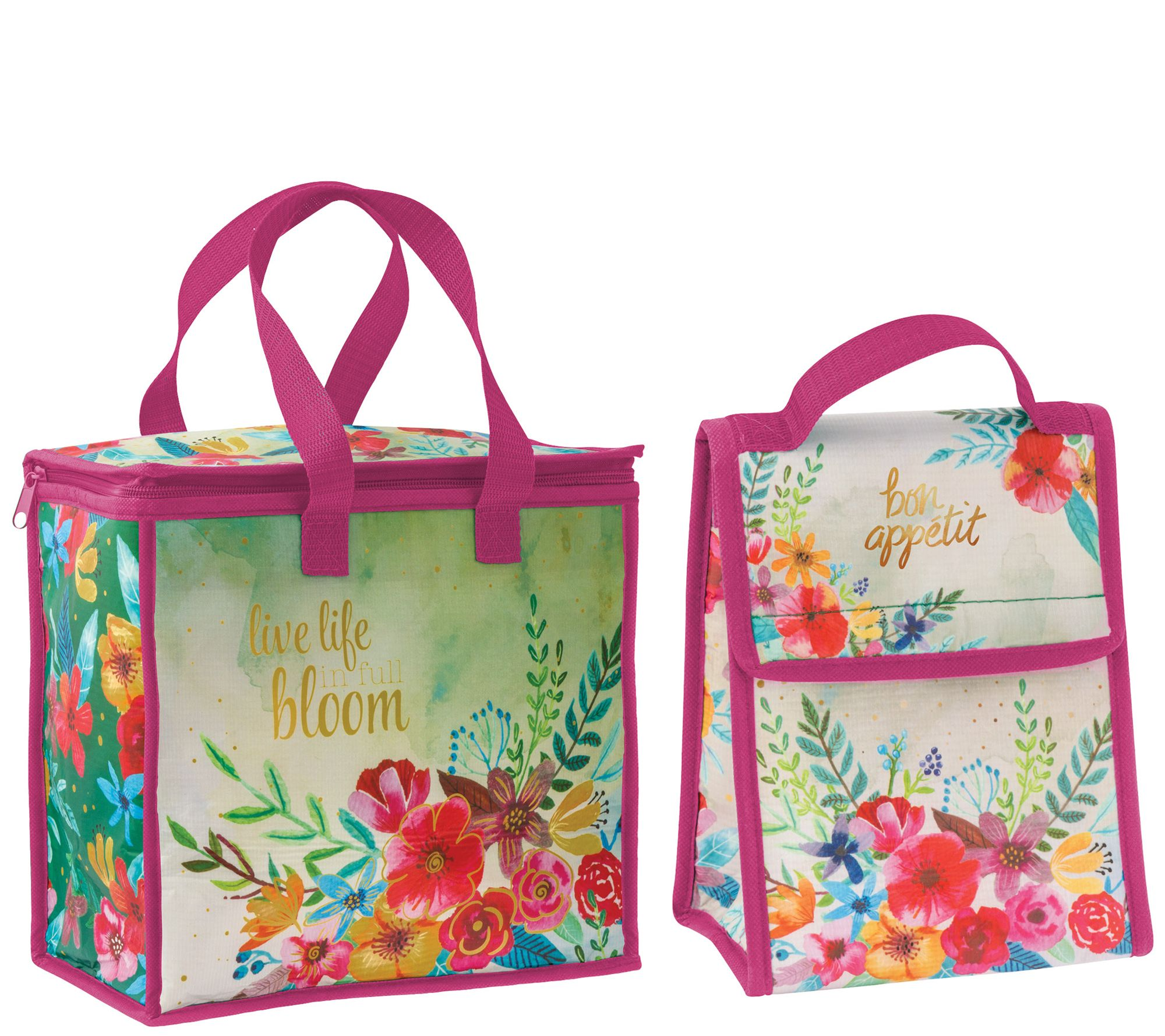ffc055395549 Karma Gifts Floral Cooler Bag and Lunch Sack — QVC.com