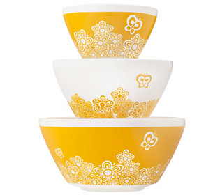 Pyrex Vintage Charm Golden Days 3 piece