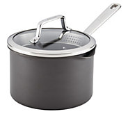 Anolon Authority Hard-Anodized 3-qt Covered Straining Saucepan - K377165