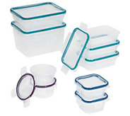 Snapware 9-pc Plastic Food Storage w/ LatchingLids - K377765
